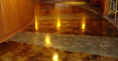 Marble, Two Tone Concrete Floors The Design Center Franklin, TN