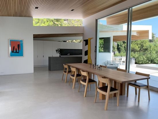 modern concrete floor