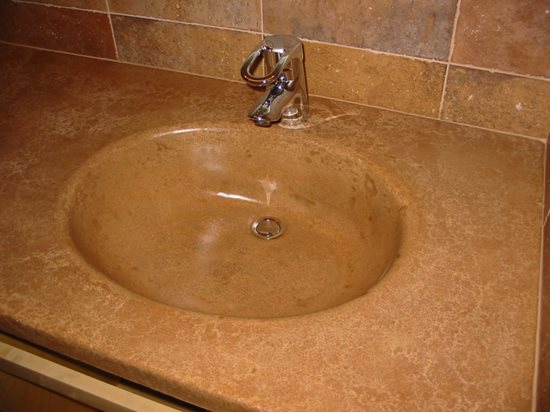 Integral Sink Site Concrete Countertop Institute Raleigh, NC