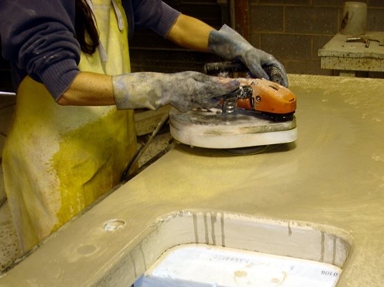 Polish Polishing Countertops Site Concrete Countertop Institute Raleigh, NC