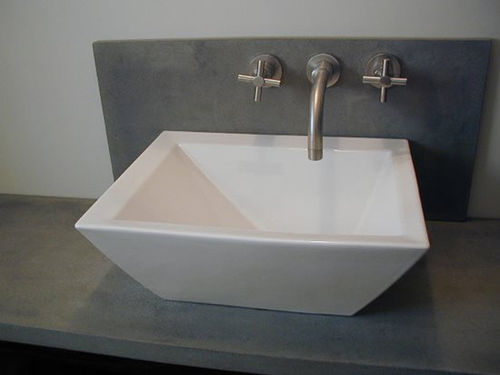 White Vessel Sink Concrete Countertop Institute Raleigh, NC