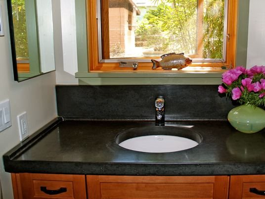 Black Counter, Bathroom Counter Concrete Countertops Flowstone Concrete Studio Sacramento, CA
