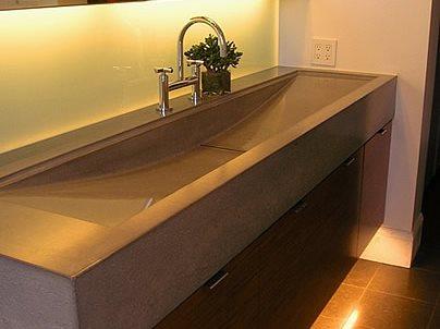 Grey, New Age Concrete Countertops Flowstone Concrete Studio Sacramento, CA