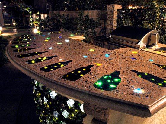 Lighted Countertop Concrete Countertops The Green Scene Chatsworth, CA