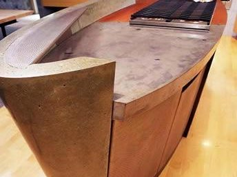Oval, Orange, Grey Concrete Countertops Cheng Design Products Inc. Berkeley, CA