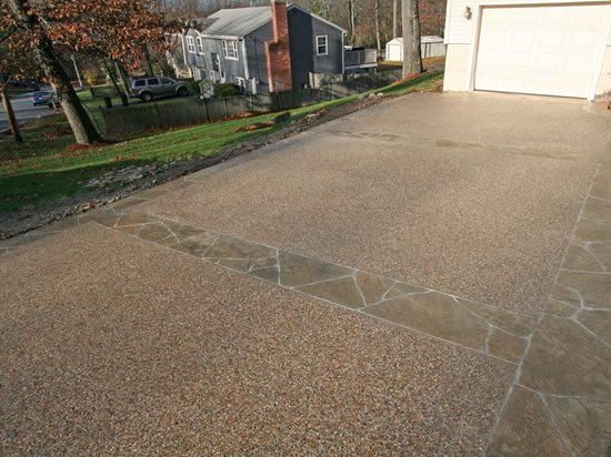 Exposed Aggregate, Sand Concrete Driveways New England Hardscapes Inc Acton, MA