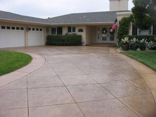 Stamped Concrete Driveway Concrete Driveways D. E. Contreras Construction Lemon Grove, CA