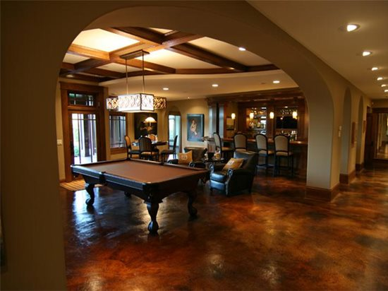 Brown, Pool Table Concrete Floors Concrete Arts Hudson, WI
