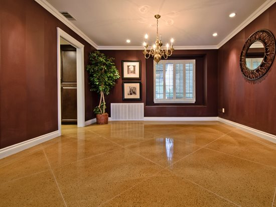 Concrete, Floor, Living Room, Diamond, Tan Concrete Floors ACI Flooring Inc  Beaumont
