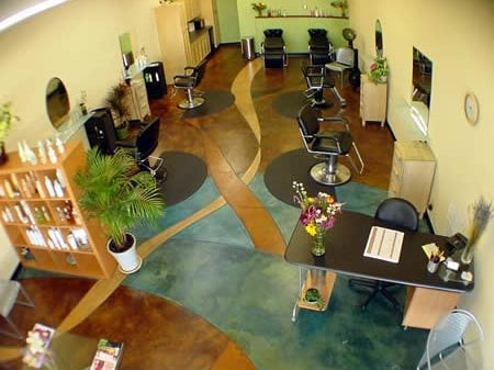 Free Form, Colorful Concrete Floors Diamond D Company Capitola, CA