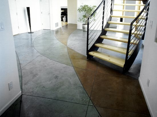 Intersecting Colors, Entry Concrete Floors Diamond D Company Capitola, CA