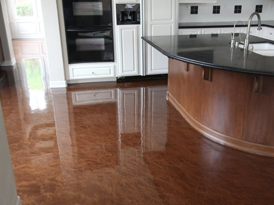 Metallic epoxy coating the concrete network - Interior concrete floor resurfacing ...