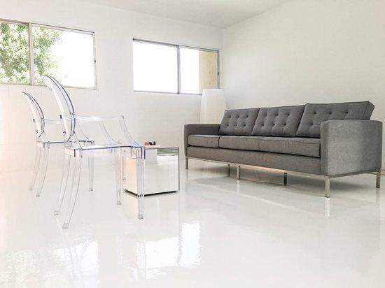 White Concrete Floors Countertops