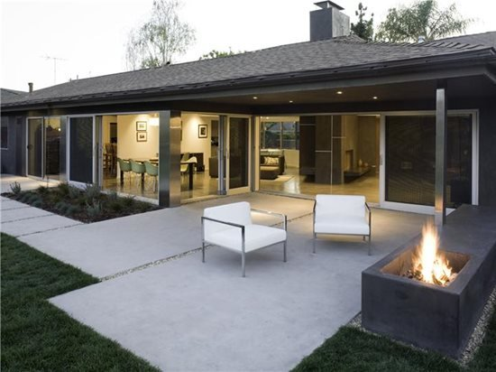Modern Patio Los Angeles Concrete Patios Modal Design Ca