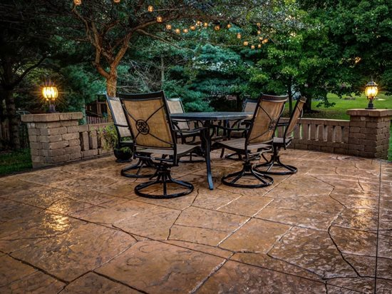 Patio Lighting, Patio Texture Concrete Patios Ju0026H Decorative Concrete LLC  Uniontown, ...