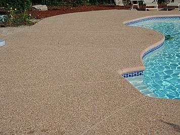 Brown, Aggregate Concrete Pool Decks New England Hardscapes Inc Acton, MA