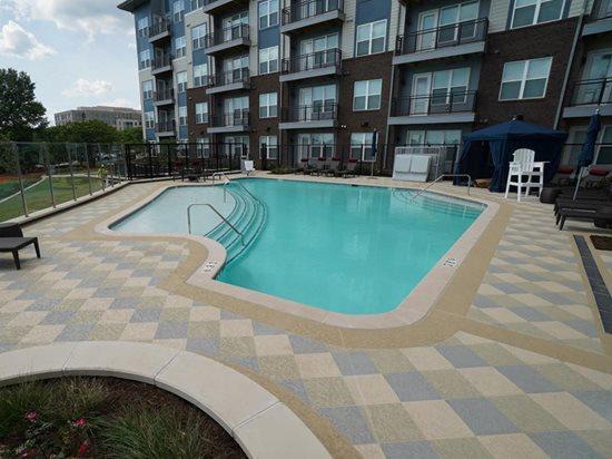 Colored Concrete, Concrete Overlay Concrete Pool Decks Sundek of Washington Chantilly, VA