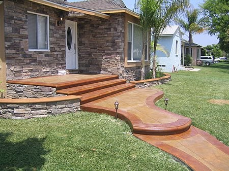 Pathway, Entrance Concrete Walkways Infinity Concrete Coatings Newport Beach, CA