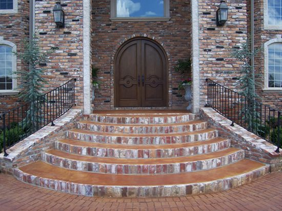 concrete walkways solid rock concrete services gravette ar - Front Steps Design Ideas