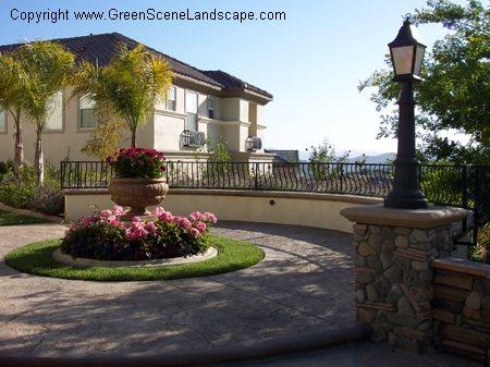 混凝土人行道绿景查兹沃斯,加利福尼亚州