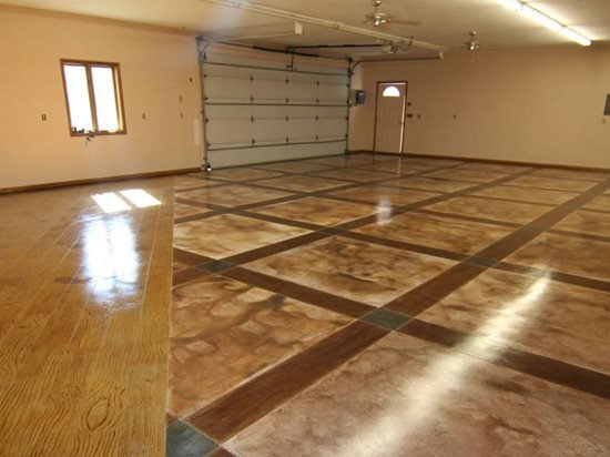 Garage floor design the concrete network for Floor decoration designs