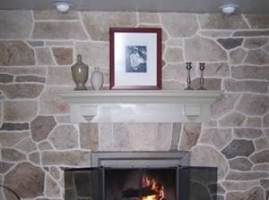 Fireplace, Vertical Interior Walls Custom DesignCrete, Inc Crescent, PA