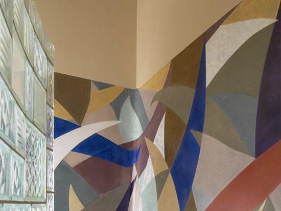 Multi Colored, Ribbons Interior Walls Everlast Concrete, Inc Steger, IL