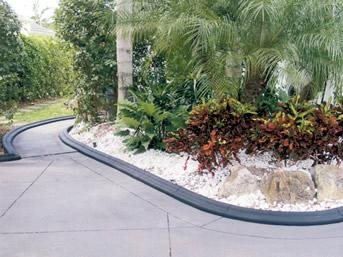 Black, Molded Planter Landscape Borders VenKrete, Inc Tamarac, FL