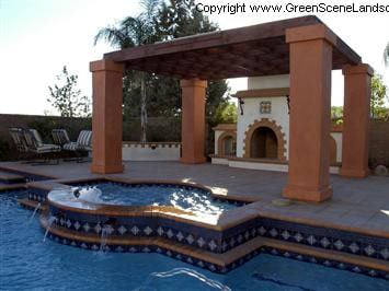 Spanish Style, Terra Cotta Outdoor Fireplaces The Green Scene Chatsworth, CA