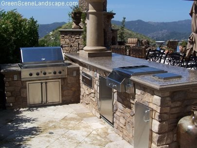 Outdoor Bbq Grill, Concrete Counter Outdoor Kitchens The Green Scene Chatsworth, CA