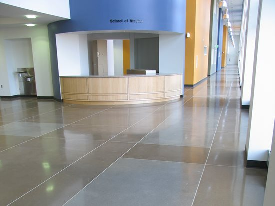 Rectangles Joints Polished Concrete Colorado Hardscapes Denver Co