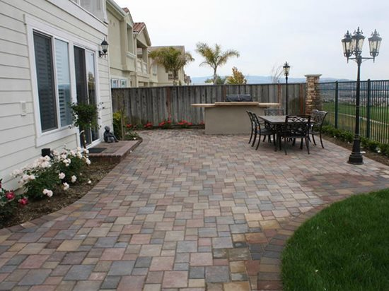 Backyard Concrete Pavers Site BR Landscapers, Concrete & Pavers Pleasanton,  ... - Concrete Paver Patios - The Concrete Network