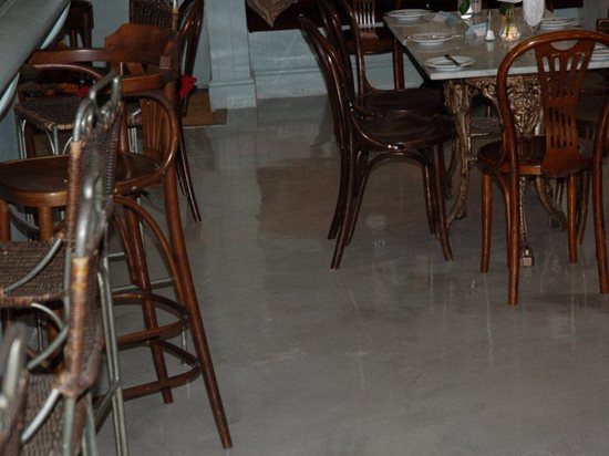 Cafe Floor, England, Gray, Topping Site Bomanite Group International ,