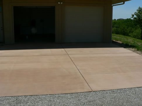 how to fix integral color in stamp concrete