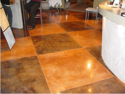Smooth Finish Overlays For Acid Stained Floors The