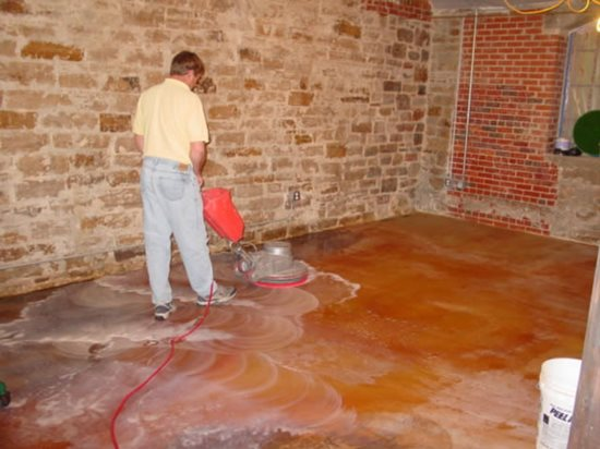 Acid staining basics the concrete network for How to wash concrete floors
