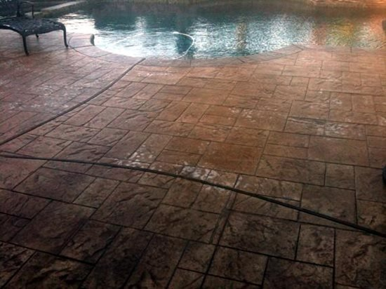 Spots On Stamped Pool Deck May Be Sealer Diffusion The