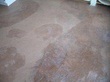 Concrete Floor, Eflorescence Site  ,