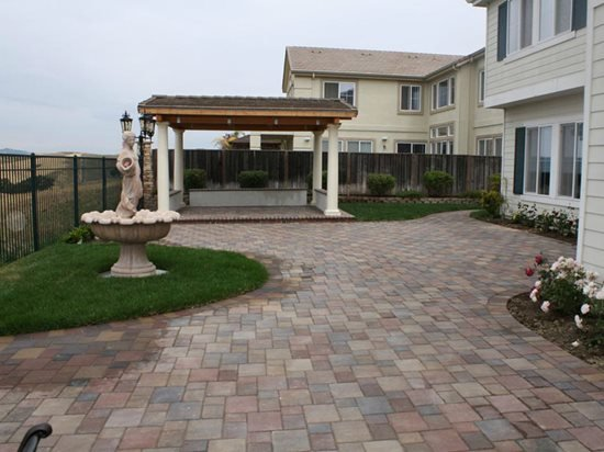 Backyard Patio Tiles : Concrete Paver PatioSiteBR Landscapers, Concrete & PaversPleasanton