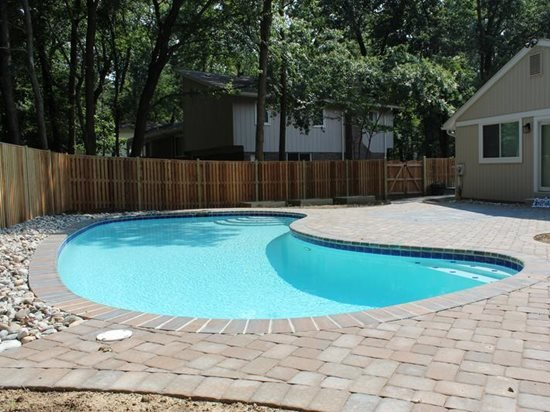 Concrete Paver Pool Deck Site NRC Landscape Construction Vienna, VA