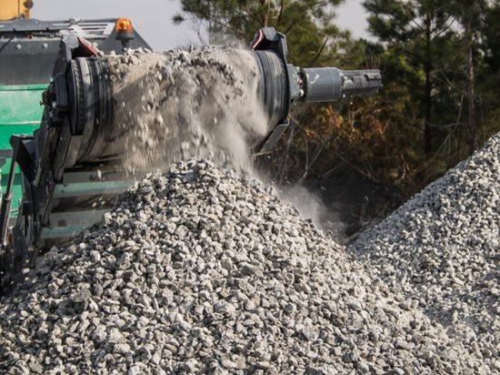 Concrete Recycling, Crushed Concrete Site Shutterstock ,