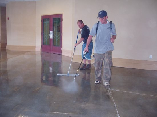 Polished concrete maintenance the concrete network for How to clean cement floor