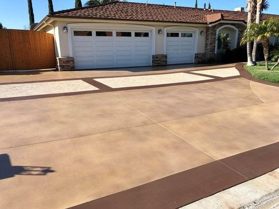 Decorative Driveway, Concrete Driveway Site KB Concrete Staining Norco, CA
