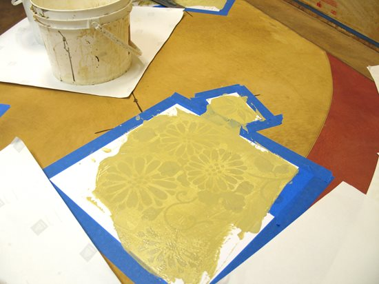 Embossed Chrysanthemums Site Modello Designs Chula Vista, CA