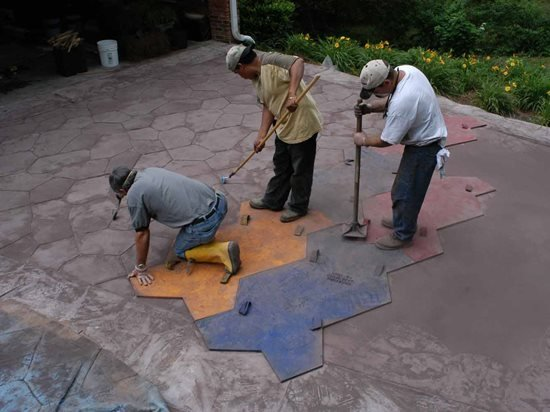 How To Stamped Concrete The Concrete Network
