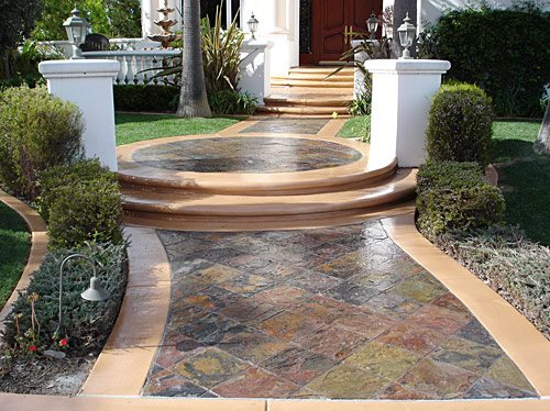 Sidewalk Steps Using Concrete To Create Stairways And
