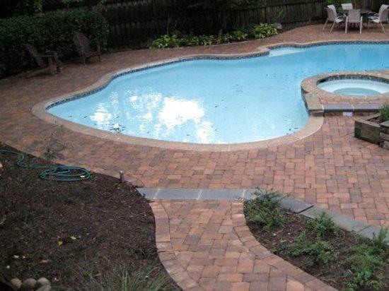 concrete paver pool decks the concrete network. Black Bedroom Furniture Sets. Home Design Ideas
