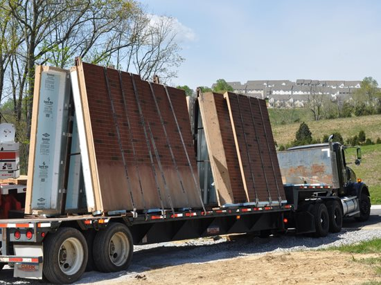Precast Wall Panels, Truck Site Superior Walls of America New Holland, PA