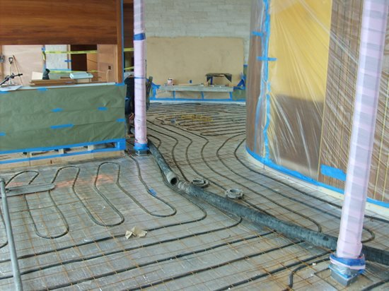 Radiant Floor Heating How To Heat Concrete Floors The Concrete - Cost of installing underfloor heating