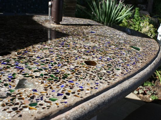 Recycled Glass Countertop Site A Cena Verde Chatsworth, CA